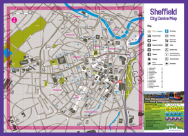 Map of the Sheffield City Centre (click to enlarge)